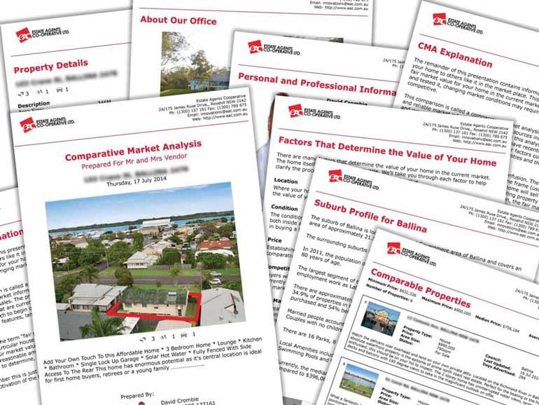 Comparative Market Analysis Template. sample real estate market ...
