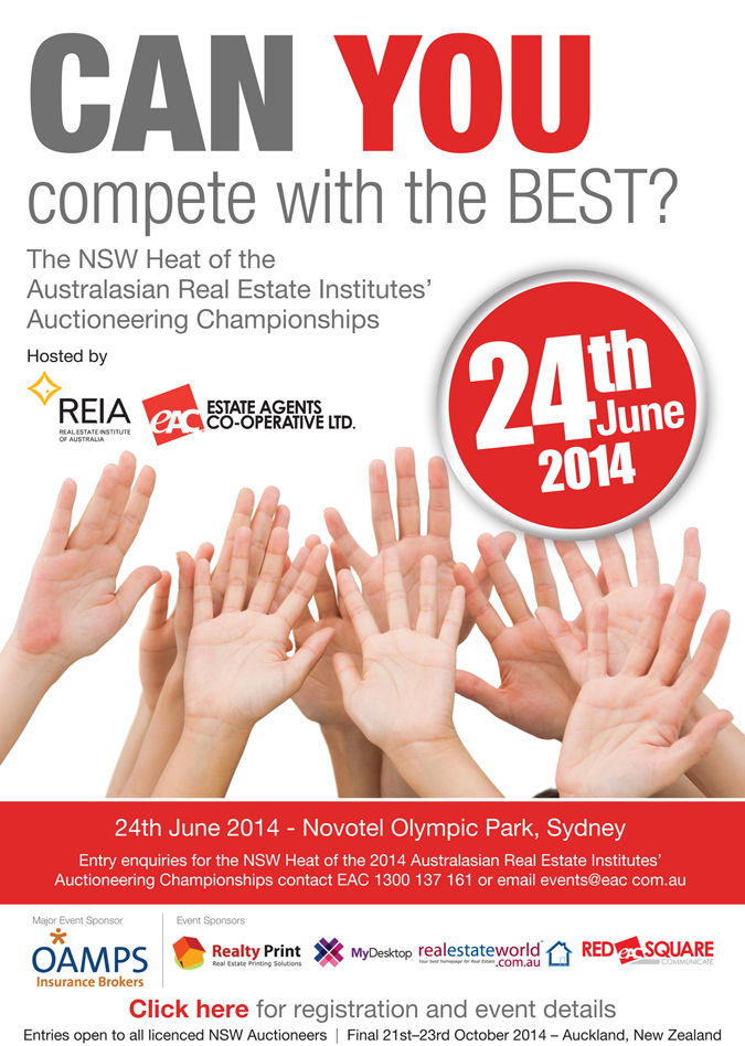 2014 Australasian Real Estate Institutes' Auctioneering Championships