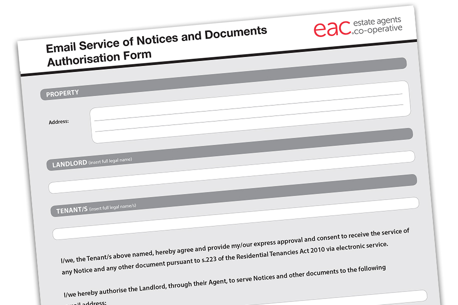 are you serving documents and notices to tenants via email here is